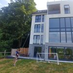 richmond cleaning high windows on a modern property