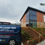 commercial window cleaning M&S foodhall Darlington