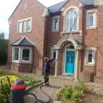 Cleaning windows and fascias in Durham