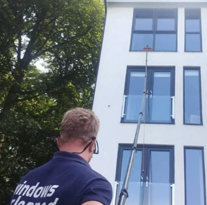 cleaning hard to reach windows in Harrogate