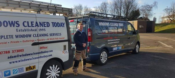 window cleaning in Darlington - our vans